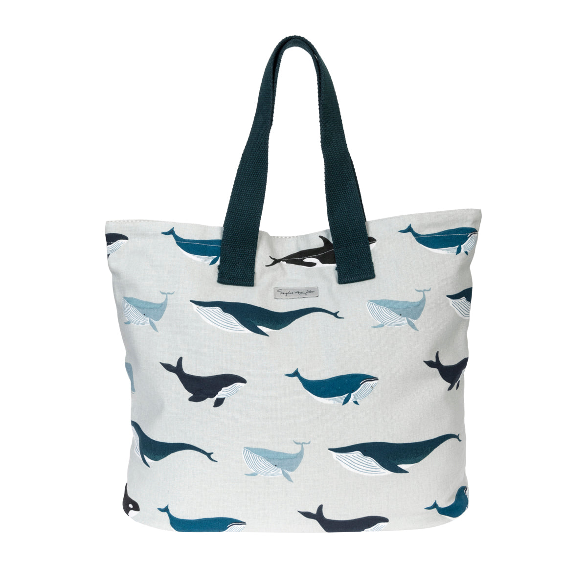 Whales Everyday Canvas  Bag by Sophie Allport
