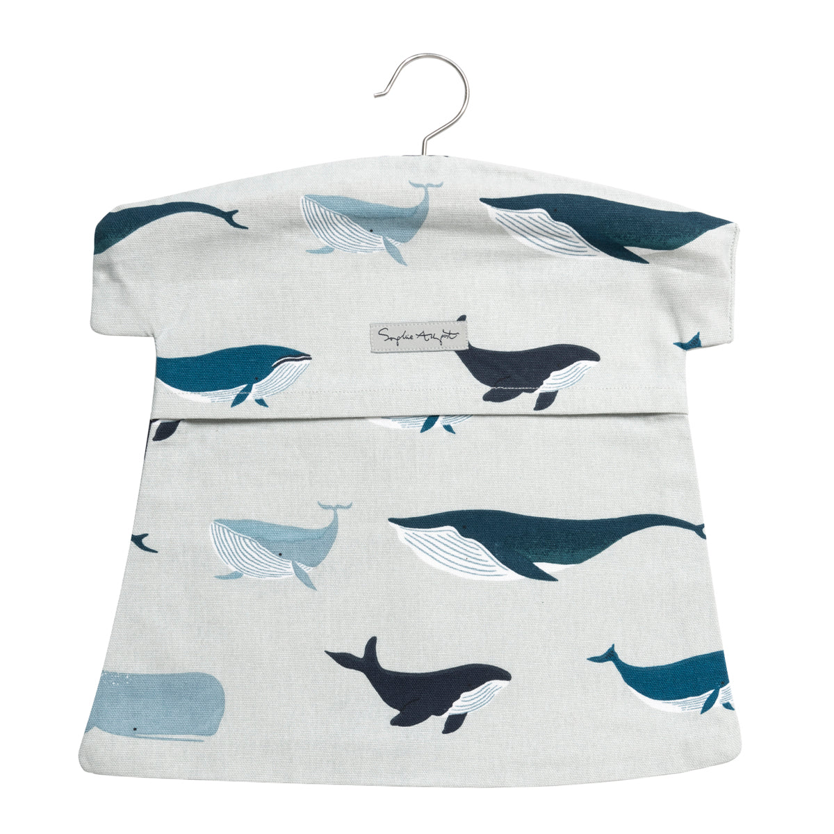 Whales Summer Cotton Peg Bag by Sophie Allport