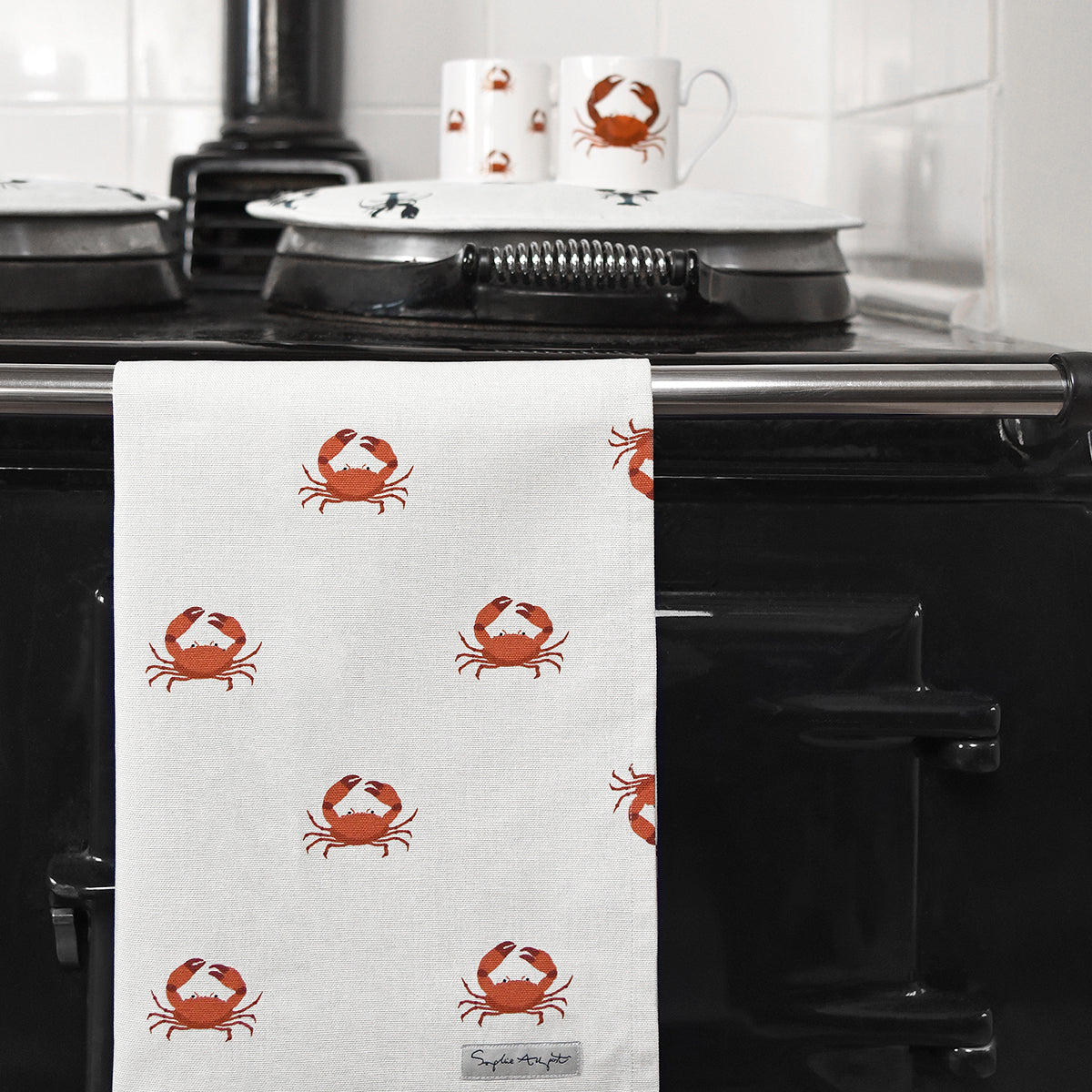 Crab Tea Towel by Sophie Allport