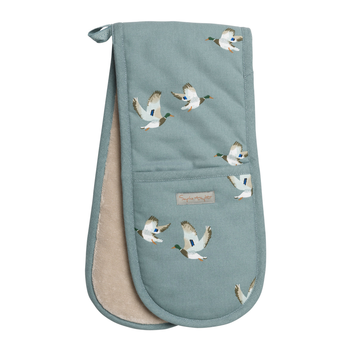 Ducks Double Oven Glove by Sophie Allport