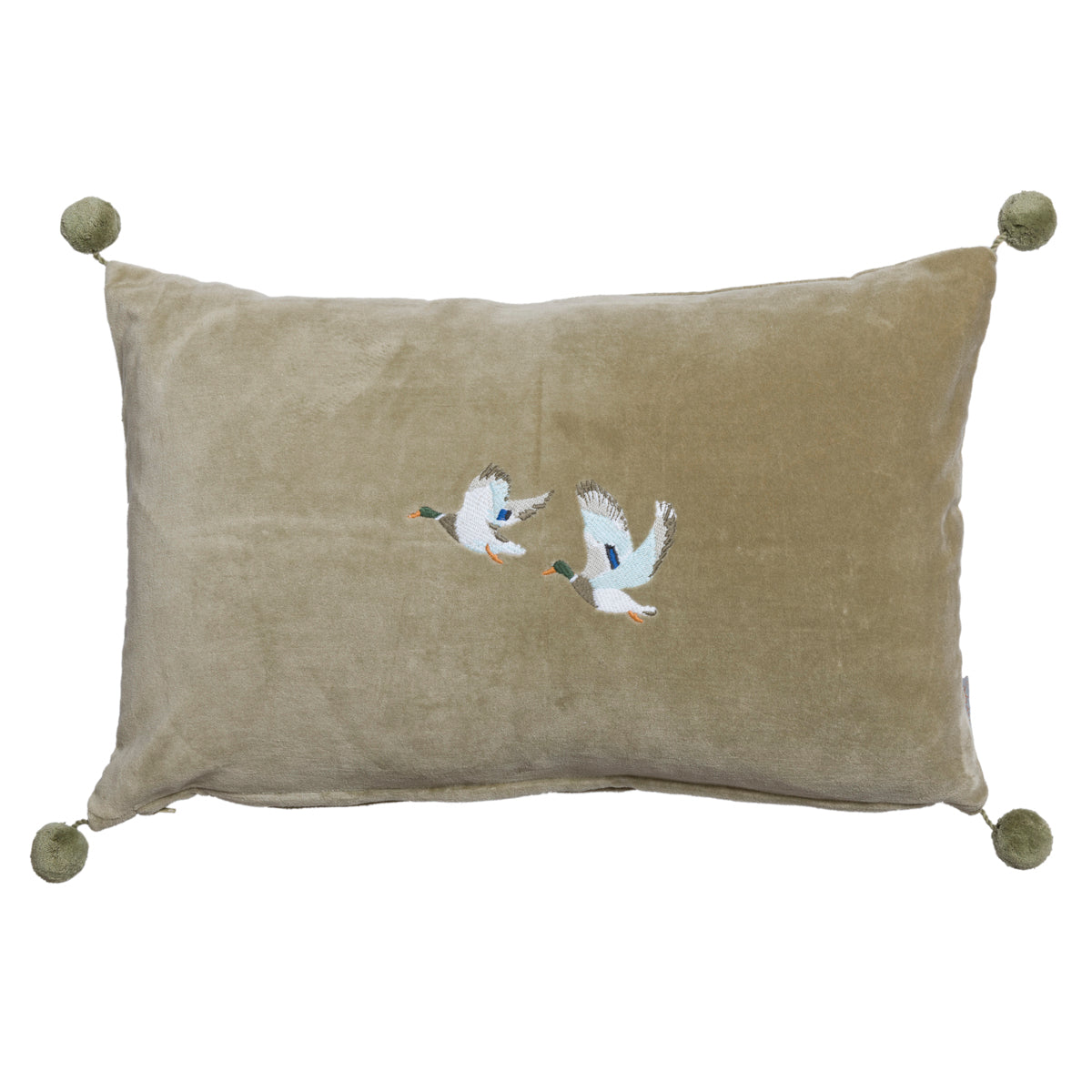 Ducks Embroidered Cushion by Sophie Allport