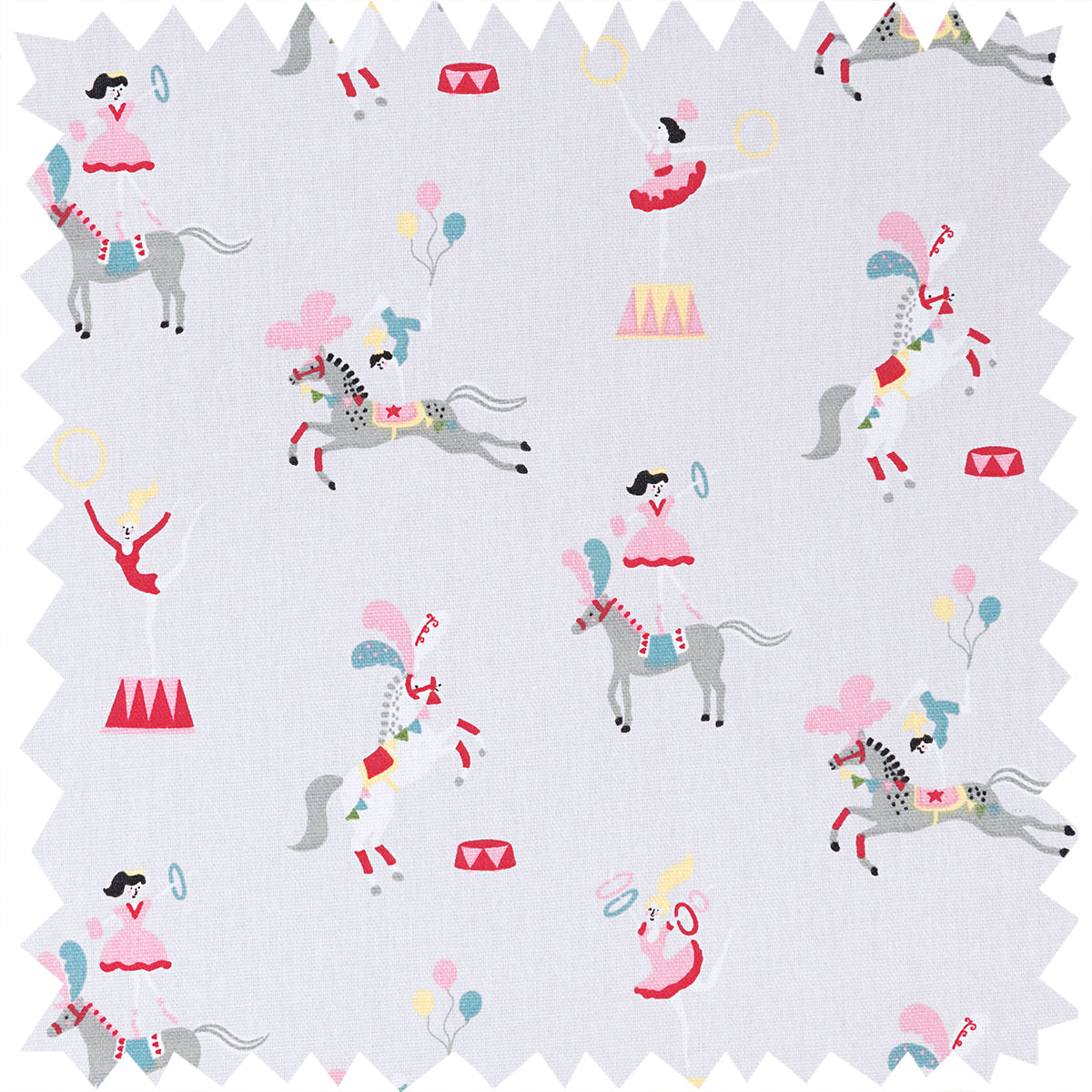 Fairground Ponies Fabric By The Metre