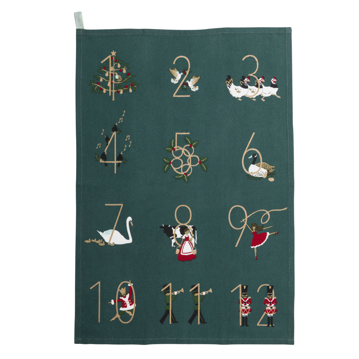 12 Days Of Christmas Tea Towel