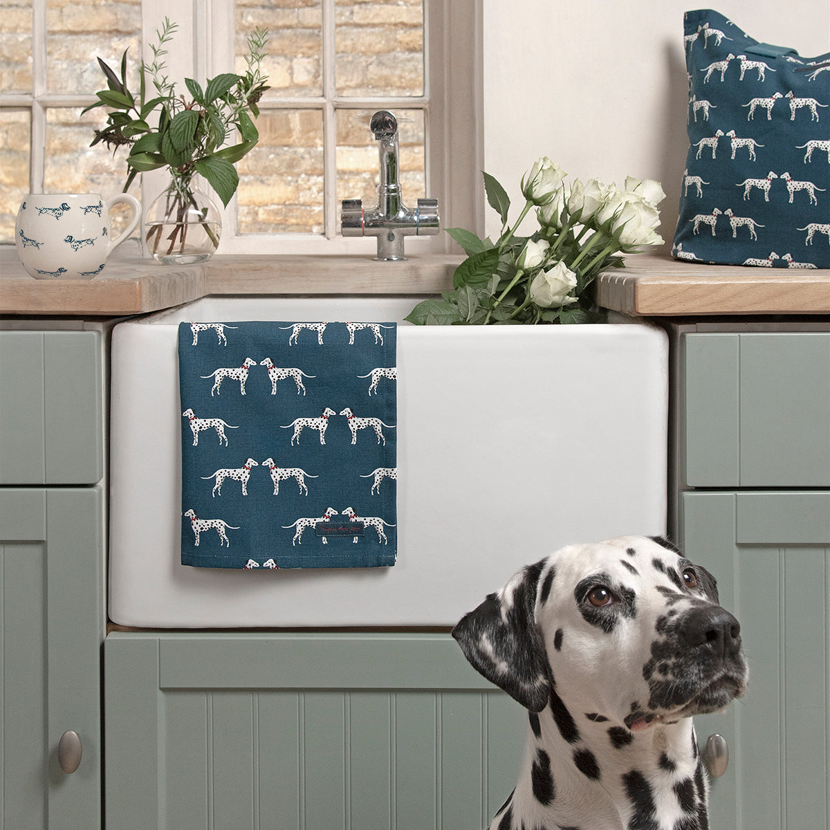 Dalmatian Tea Towel by Sophie Allport