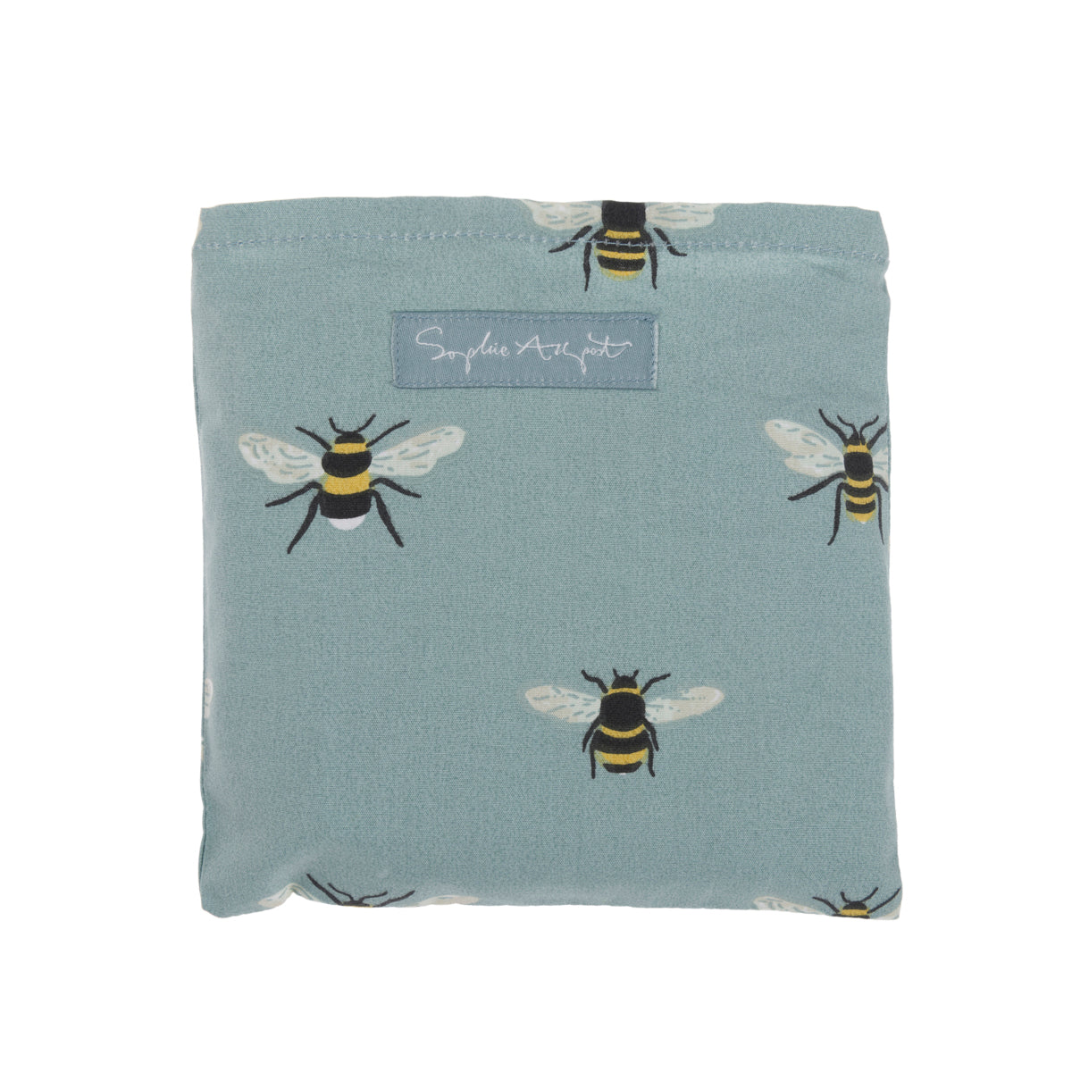 Bees Teal Folding Practical Shopping Bag by Sophie Allport