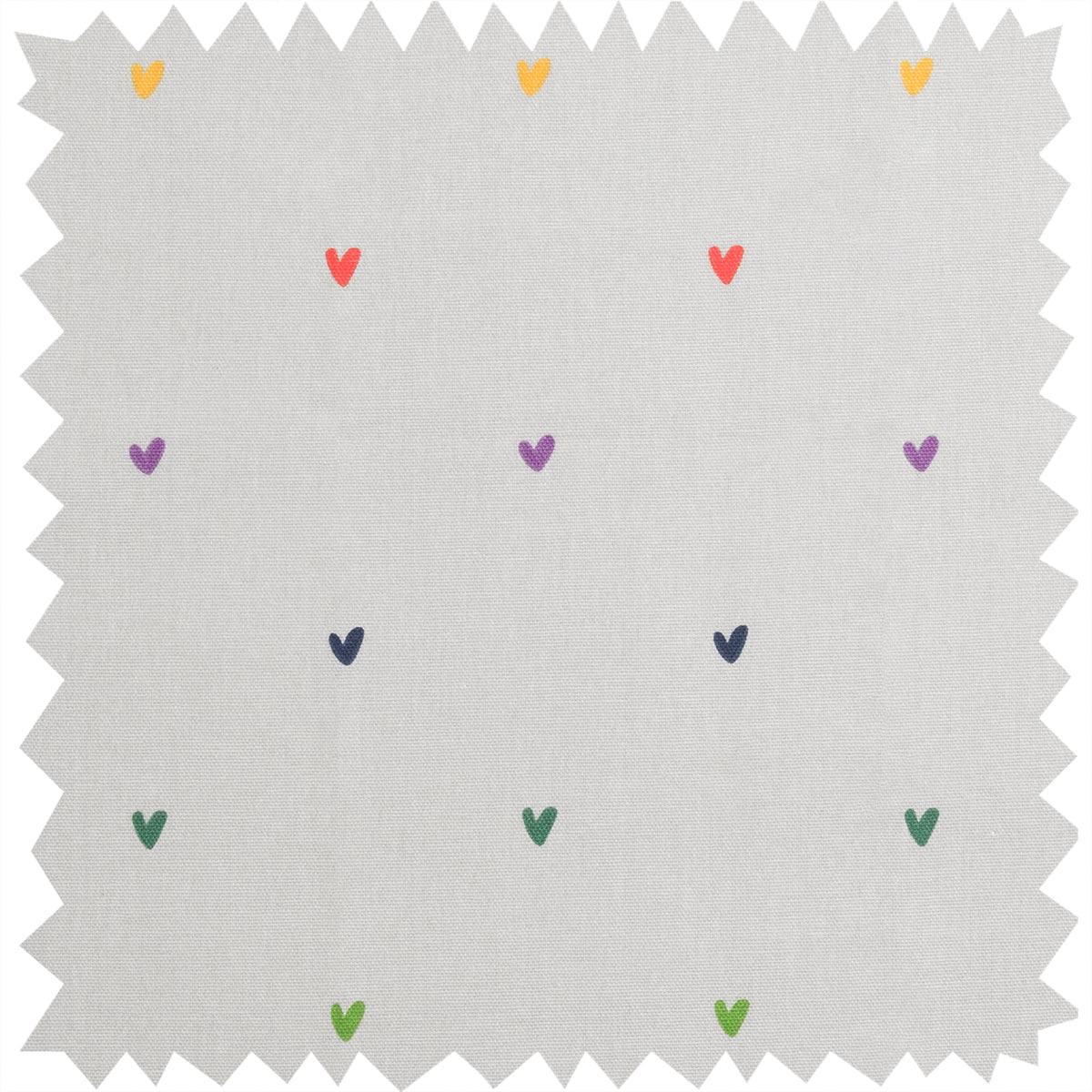 Multicoloured Hearts Fabric By The Metre by Sophie Allport