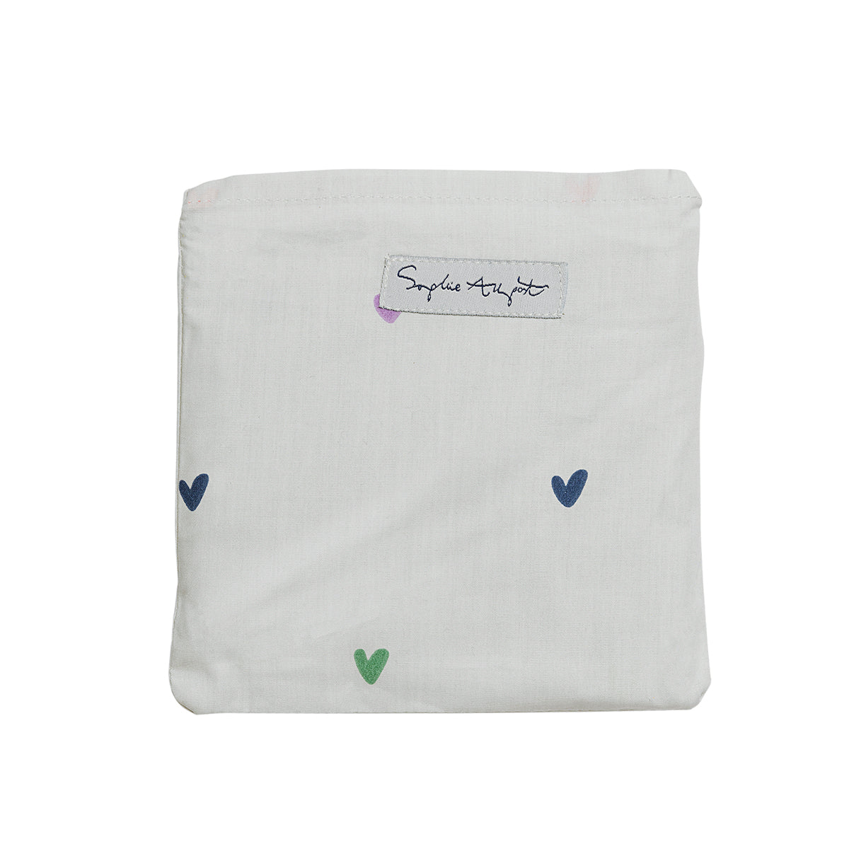 Multicoloured Hearts Folding Shopping Bags by Sophie Allport