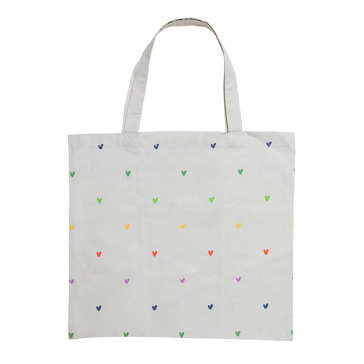 Multicoloured Hearts Folding Shopping Bag