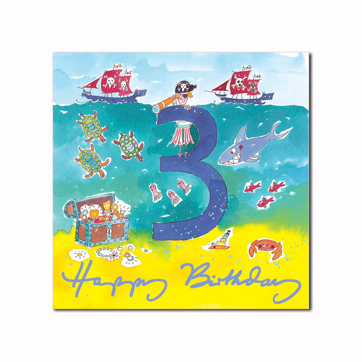 Happy 3rd Birthday Boy Greeting Card
