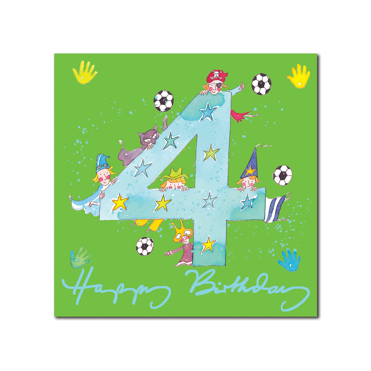Happy 4th Birthday Boy Greeting Card