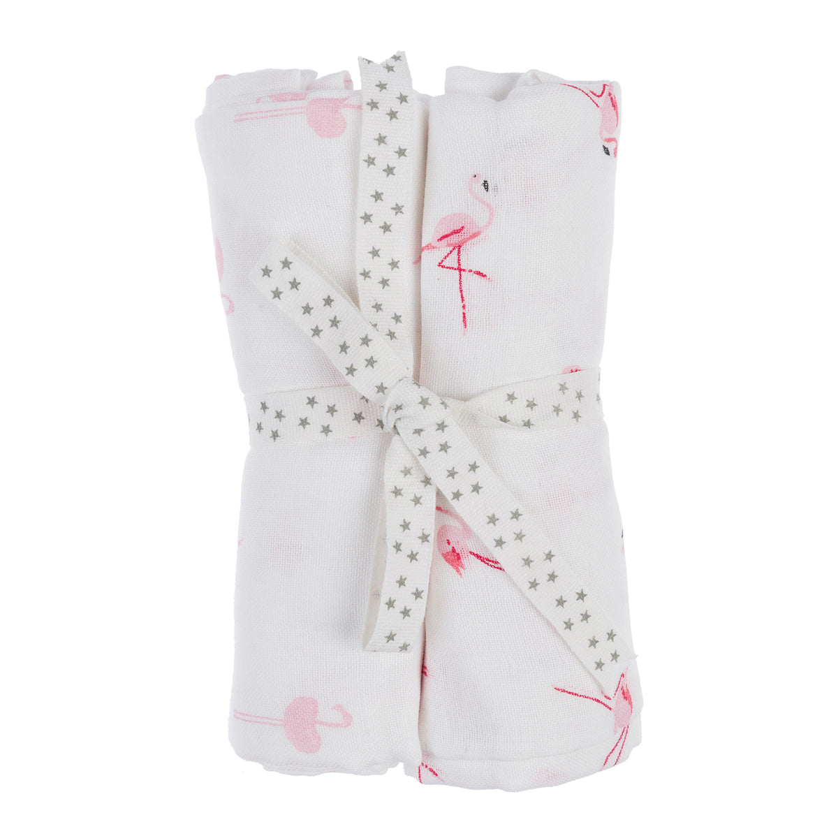 Flamingos Muslins (Pack of 2)
