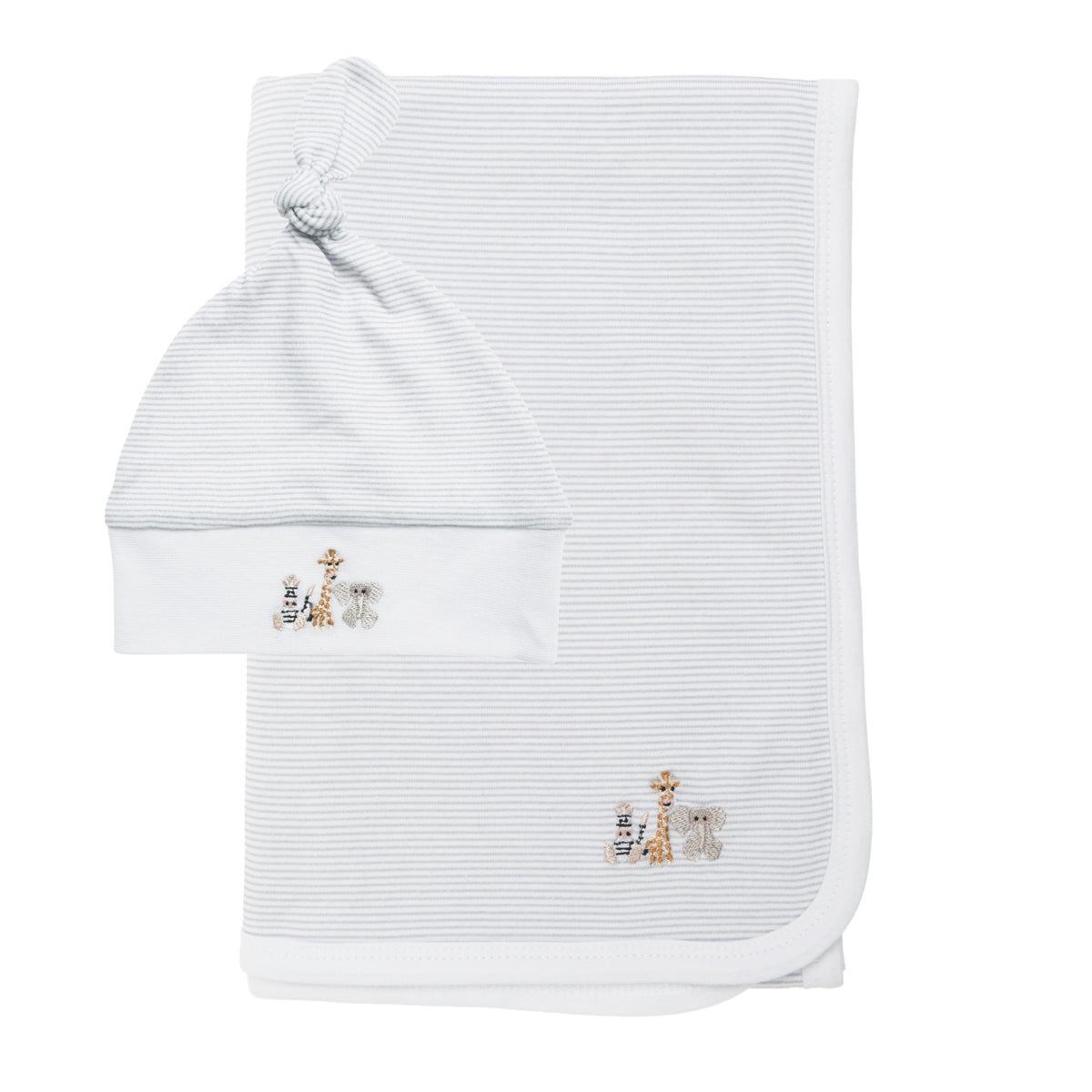 Bears & Balloons Swaddle Blanket & Hat Set by Sophie Allport