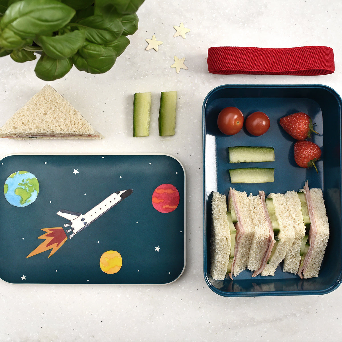 Space Kids Bamboo Lunch Box by Sophie Allport