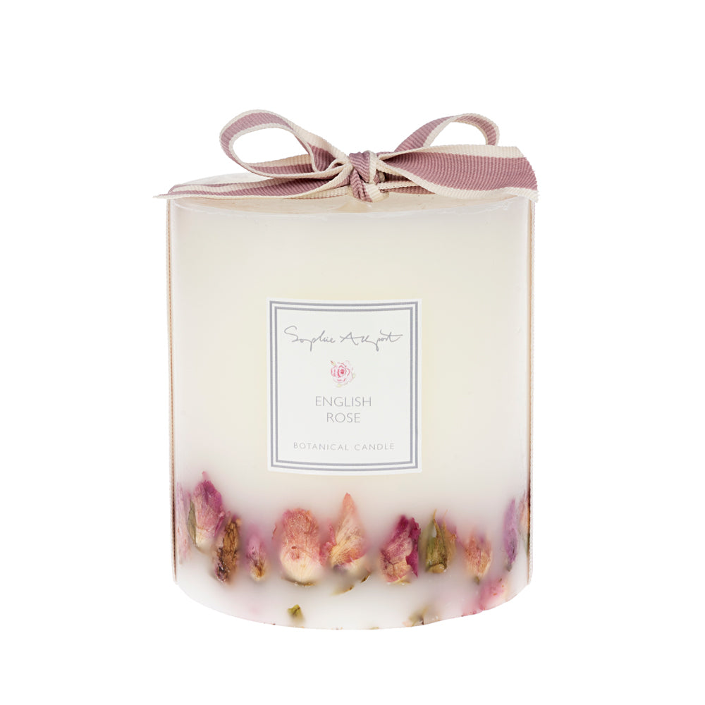 English Rose Botanical Candle