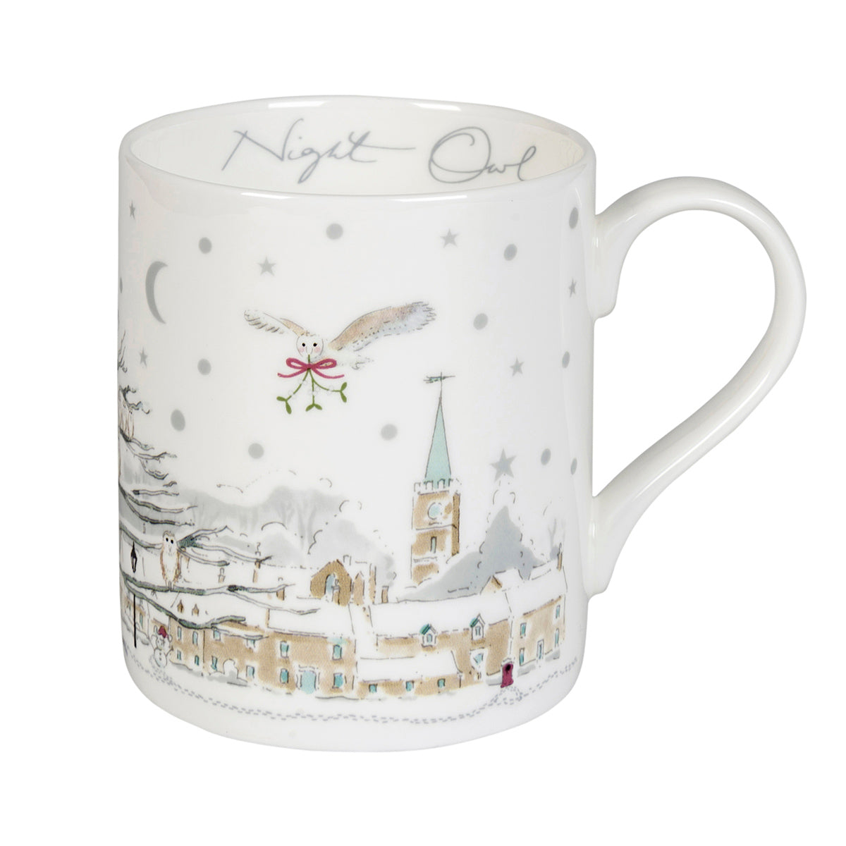 Night Owl Village Scene Mug