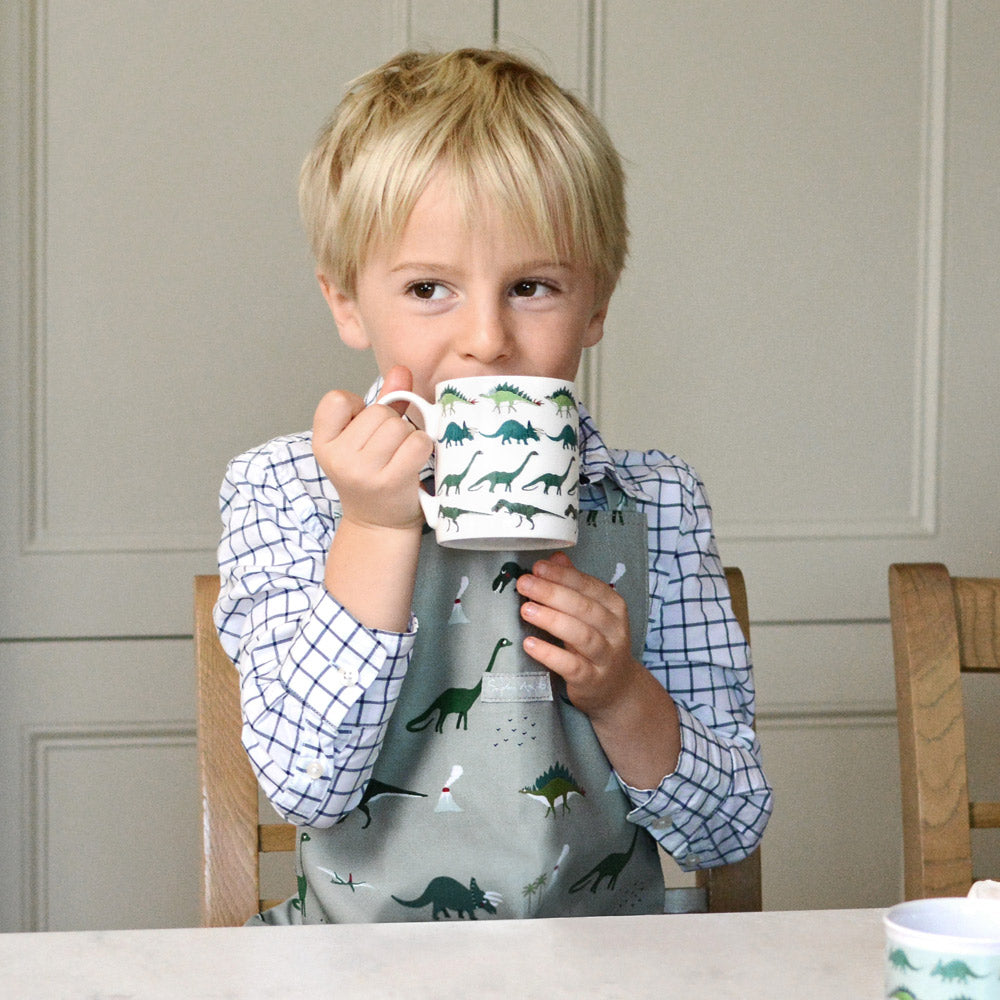 Dinosaurs Oilcloth Child Apron