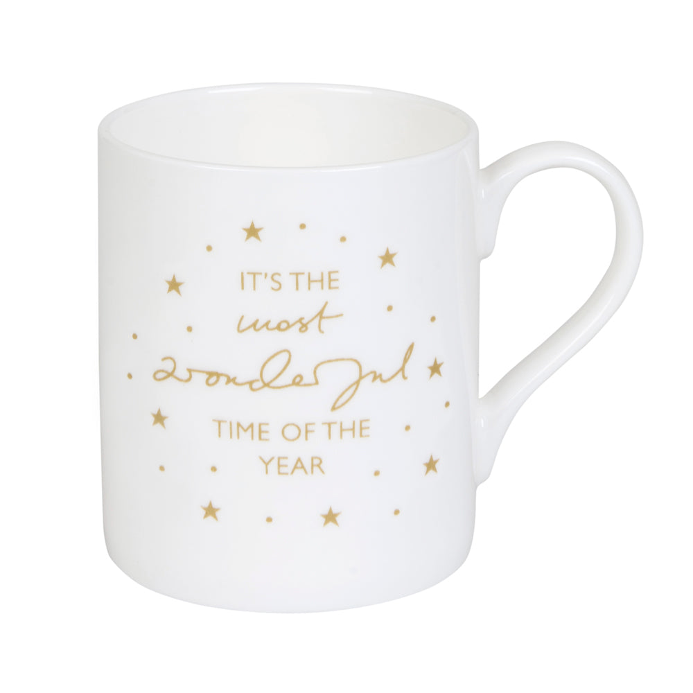 "Holly & Berry ""It's the Most Wonderful Time of the Year!"" Mug"