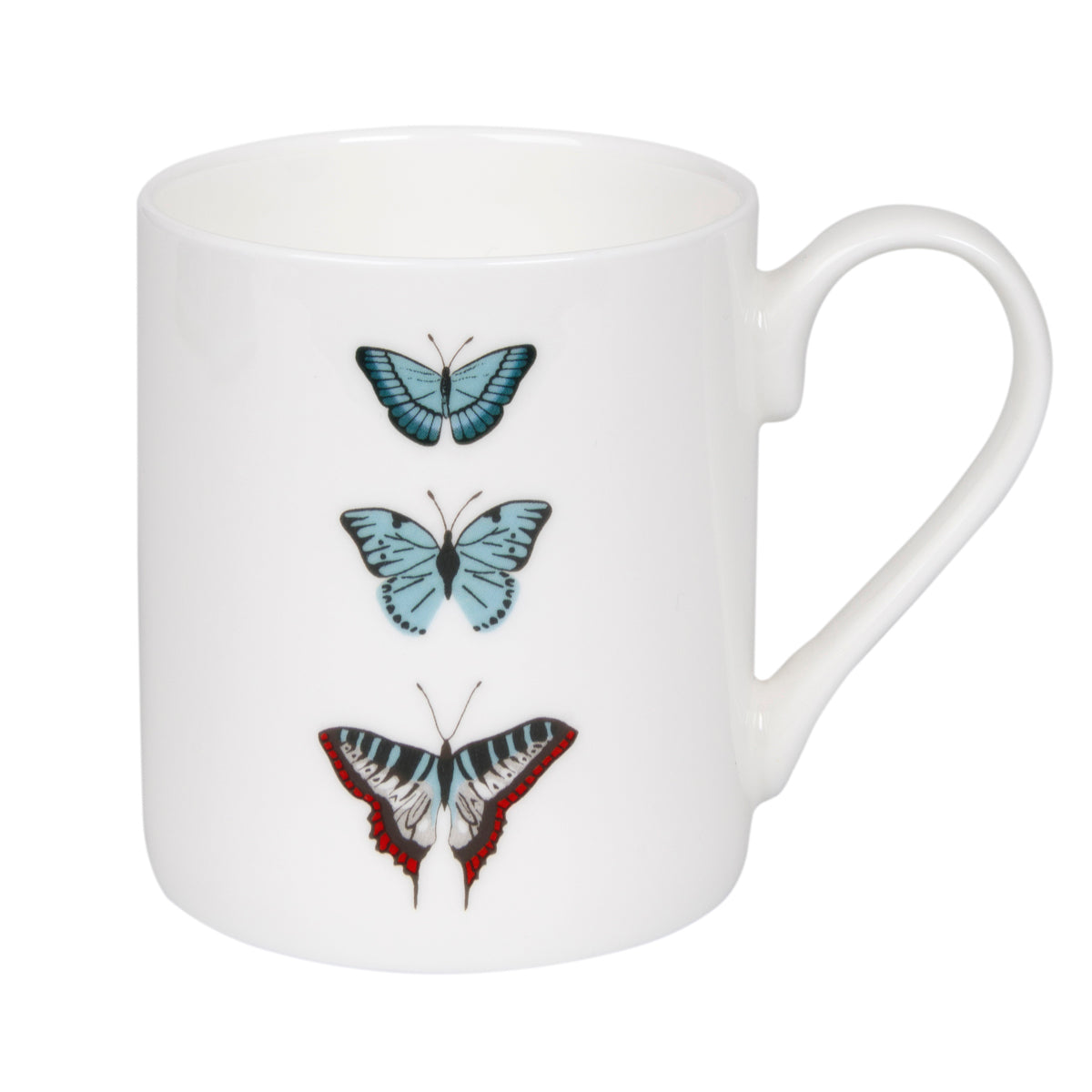 Sophie Allport fine bone china Butterflies Solo Mug feature three butterflies