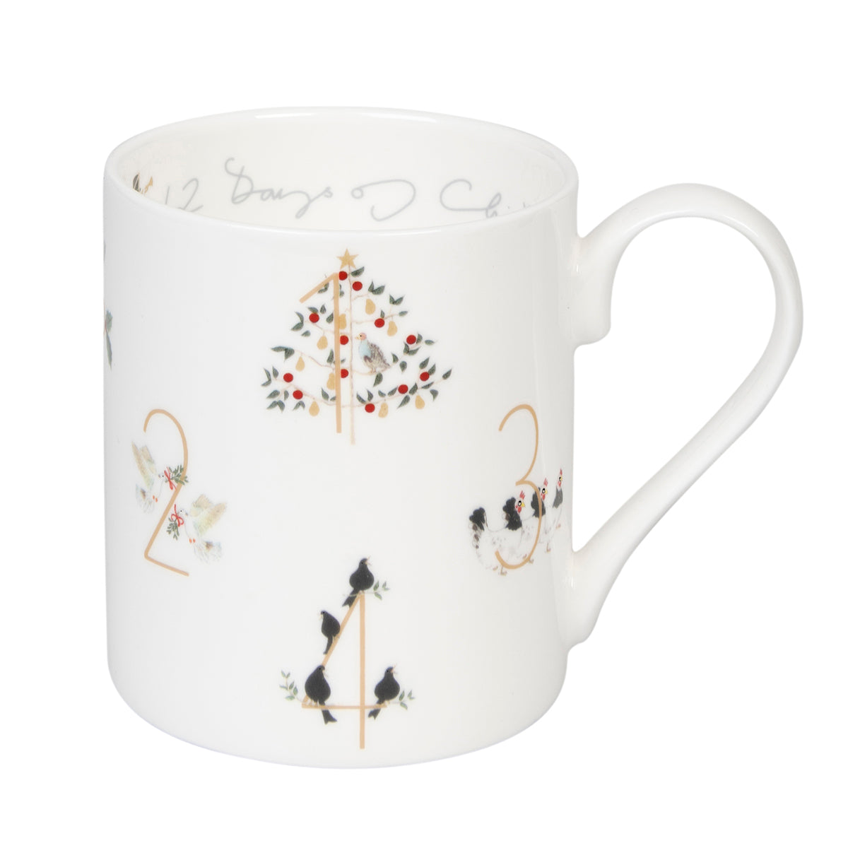 12 Days Of Christmas Mug fine bone china