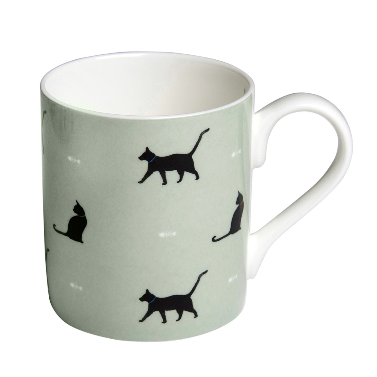Black Cat & Bone Mug - Coloured