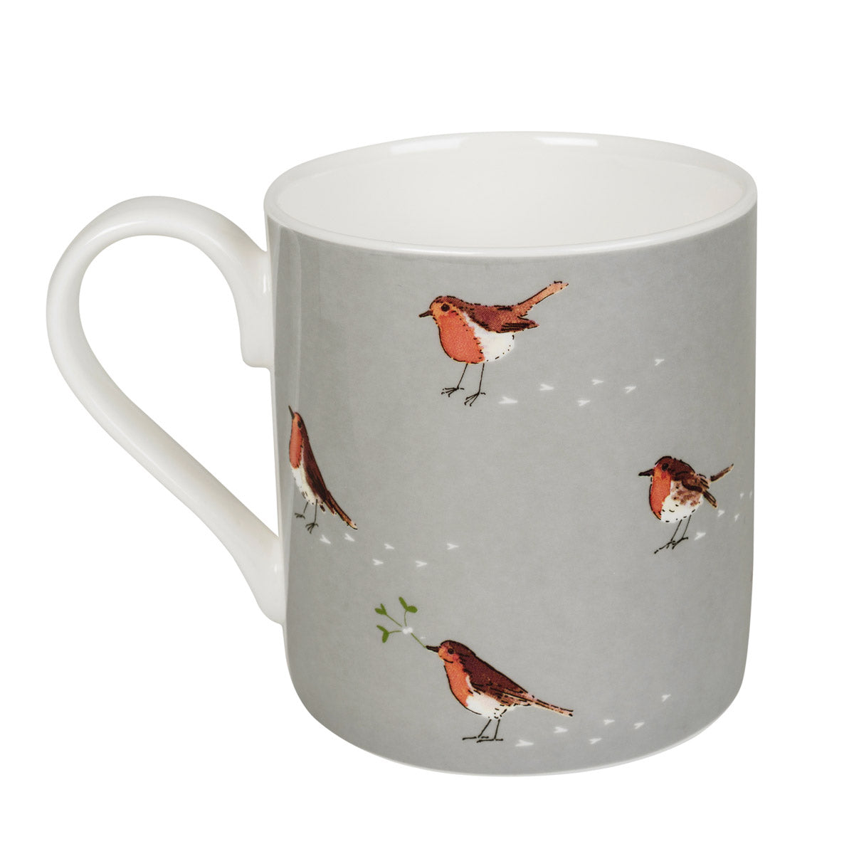Robin & Mistletoe Mug - Coloured