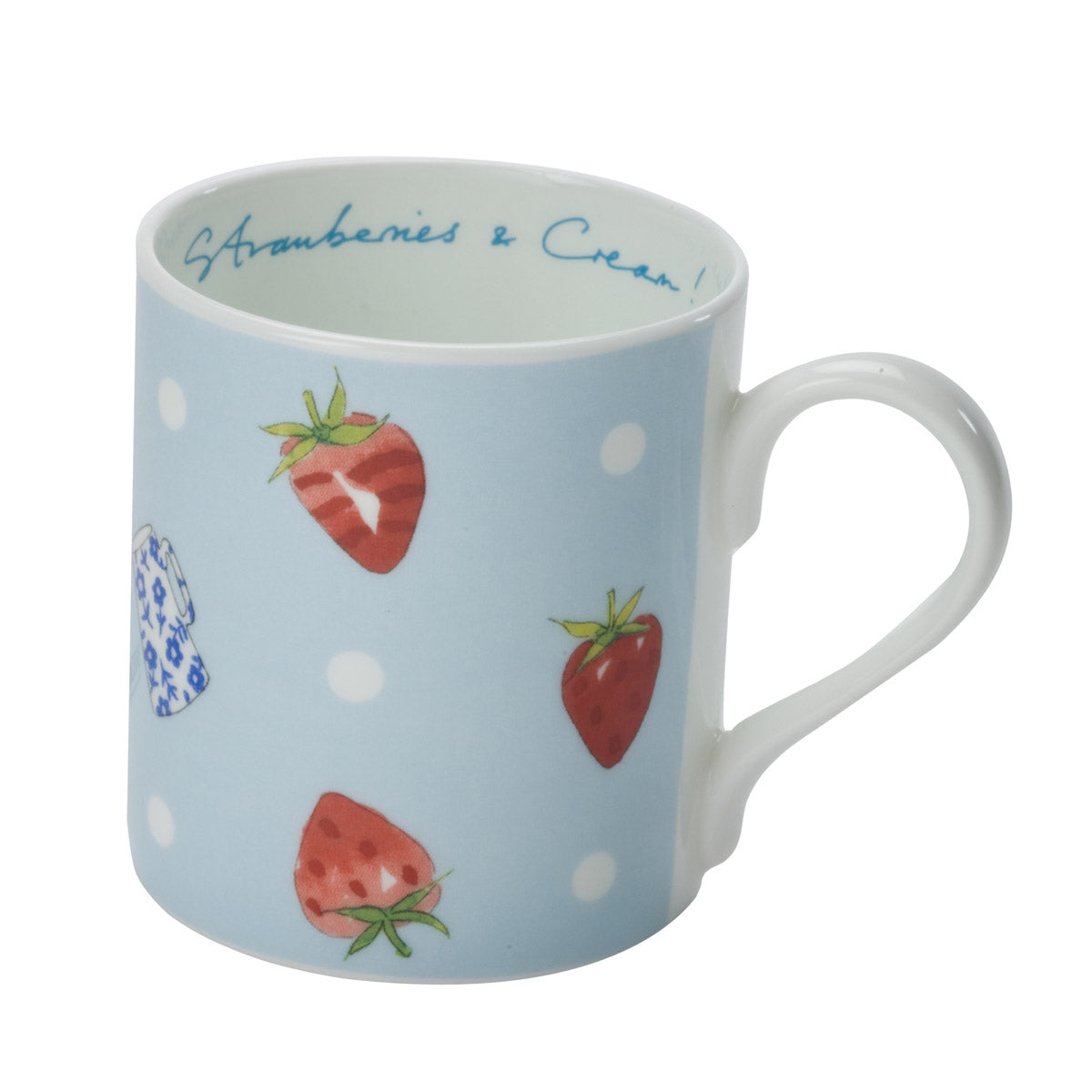 Strawberries & Cream Mug - Blue