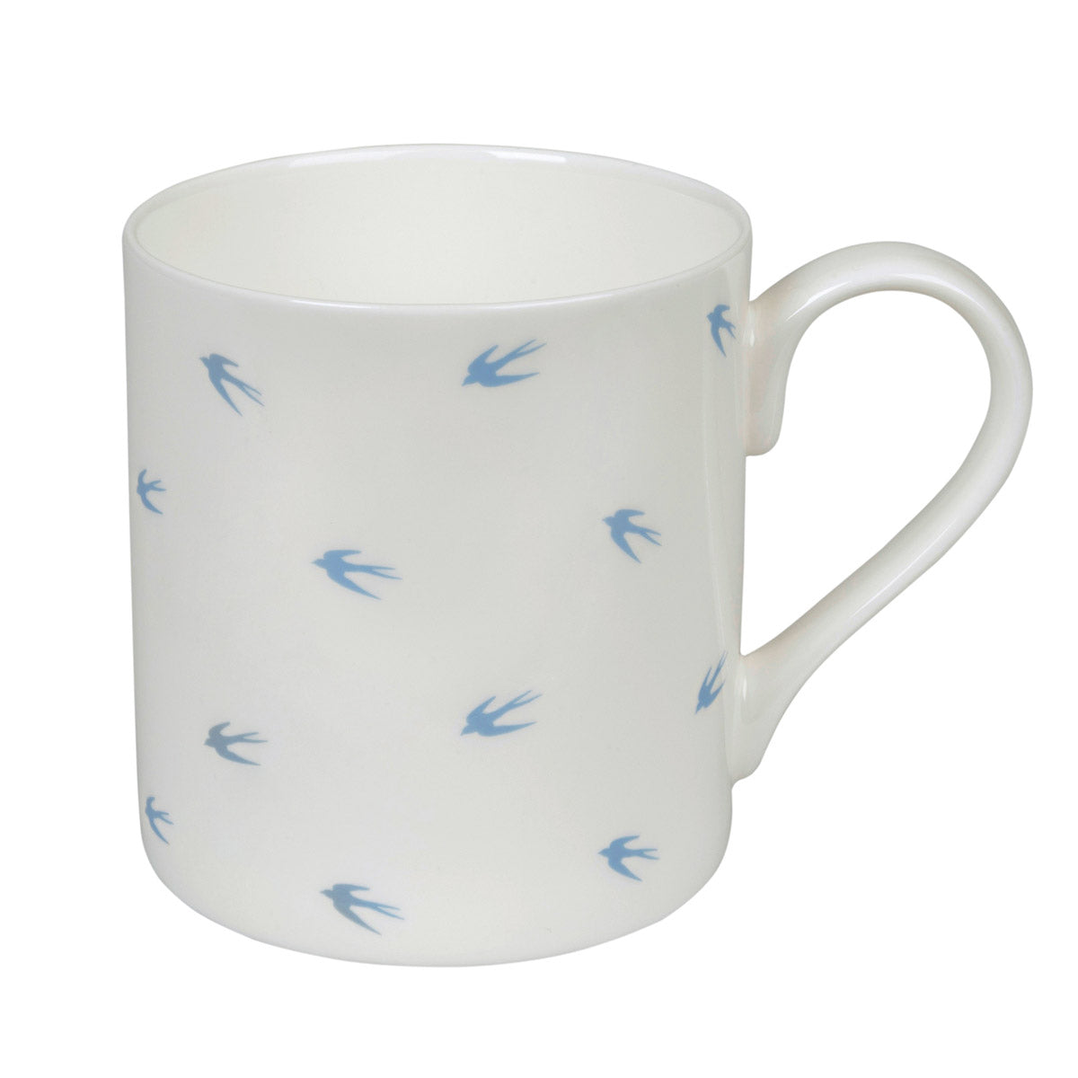 Pale Blue Swallows Mug