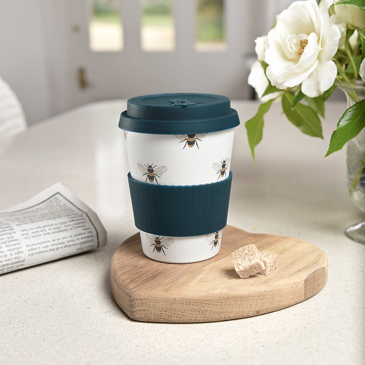 Bees Bamboo Travel Mug by Sophie Allport