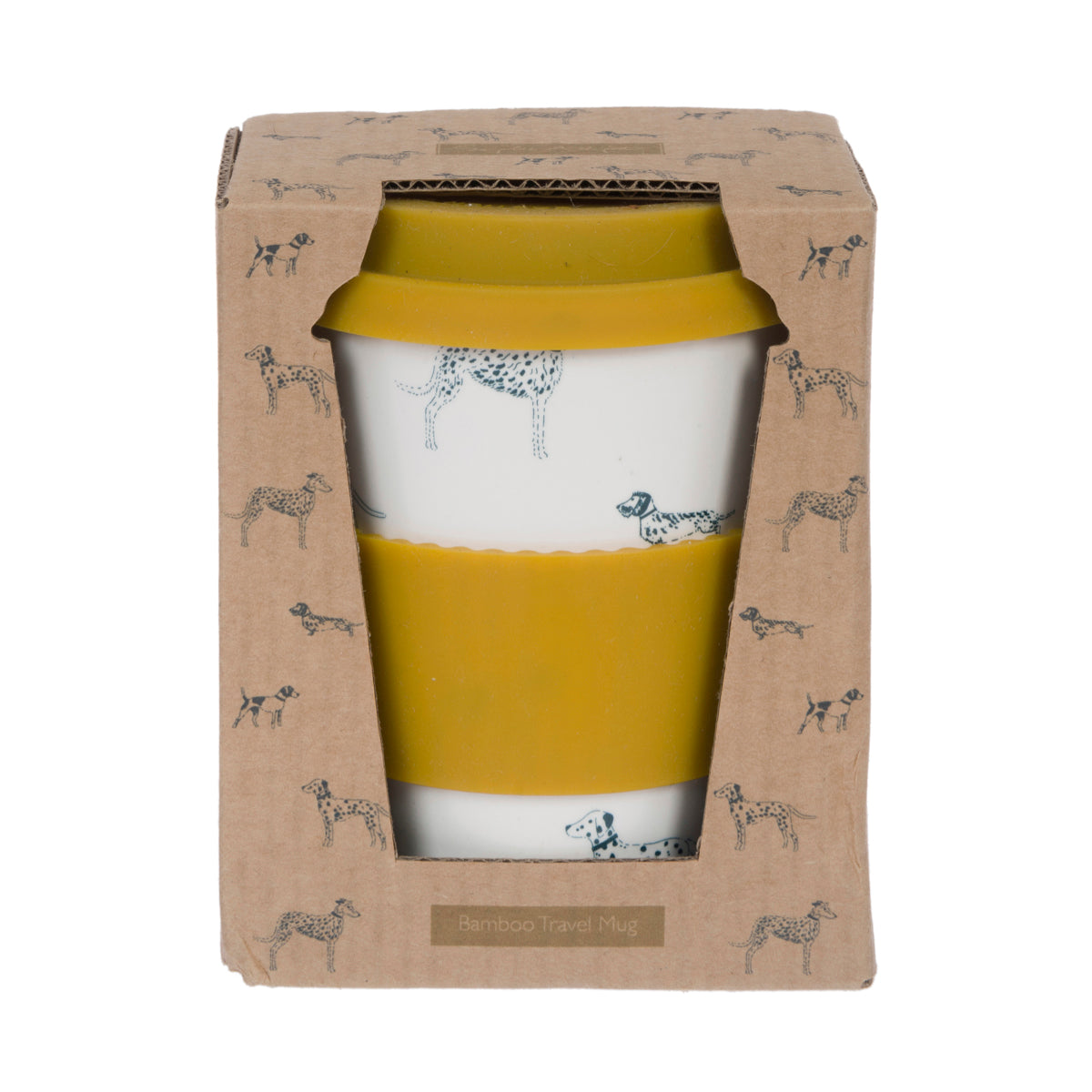 Fetch Bamboo Travel Mug Dog Design by Sophie Allport