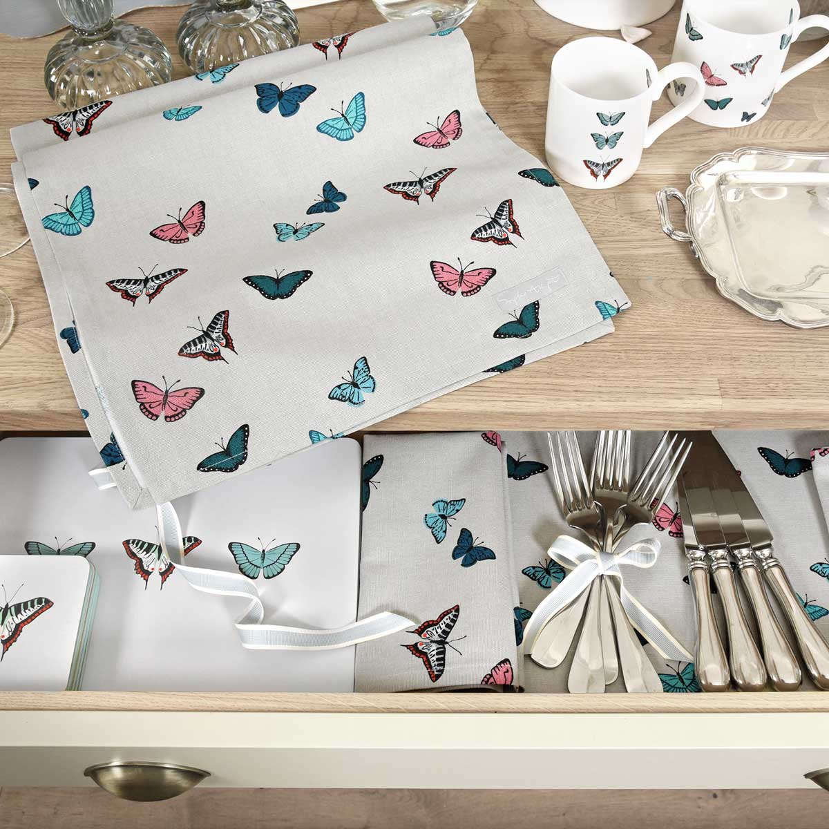 Butterflies Table Runner by Sophie Allport