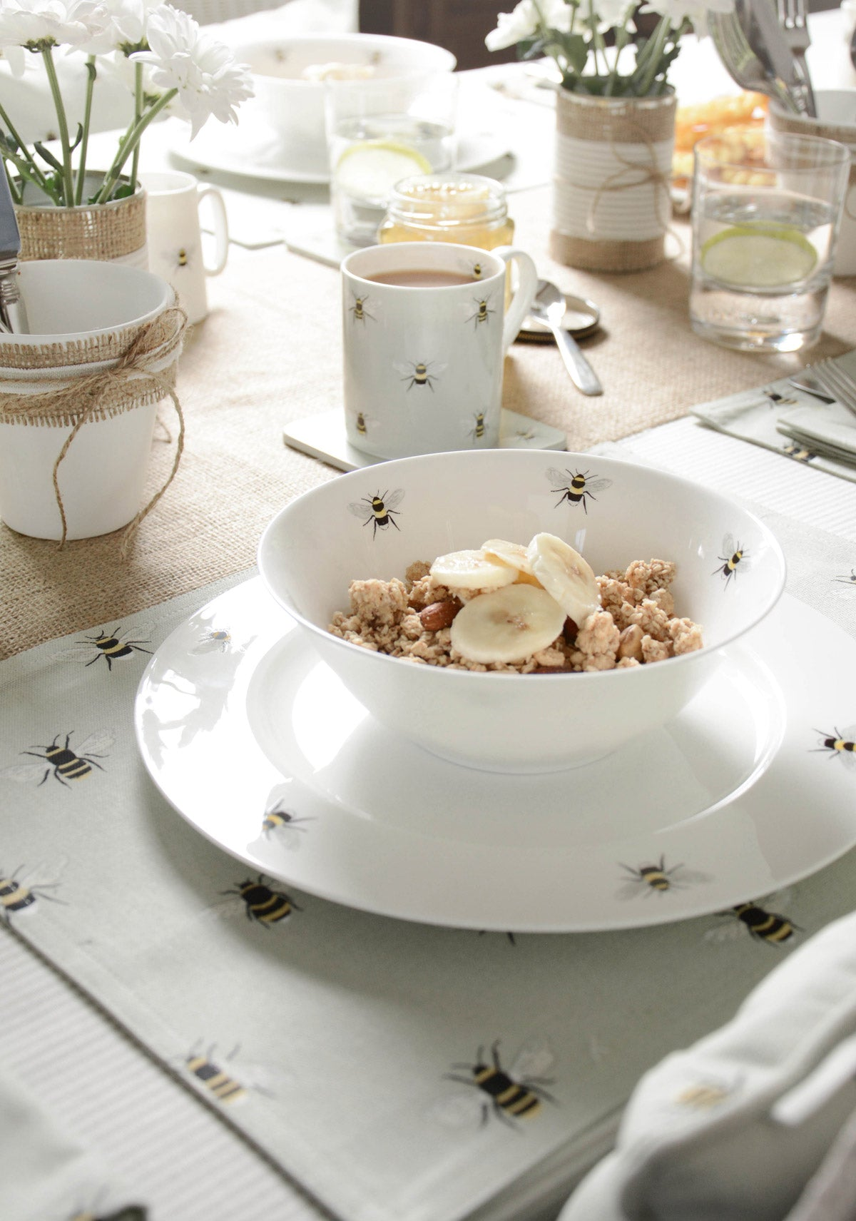 Bees Cereal Bowl