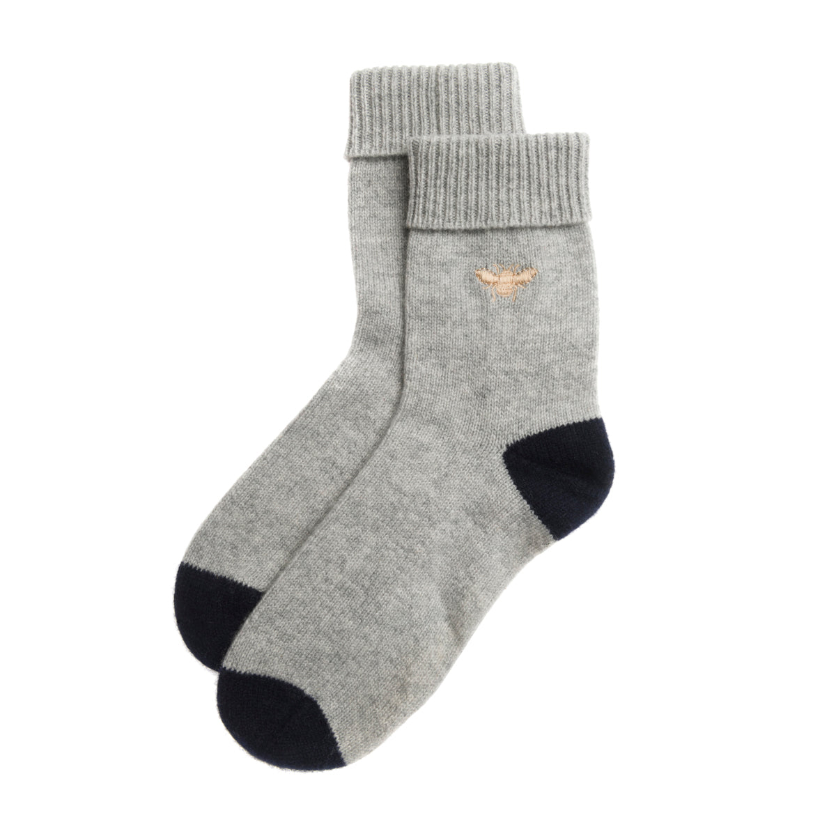 Bees Cashmere Socks