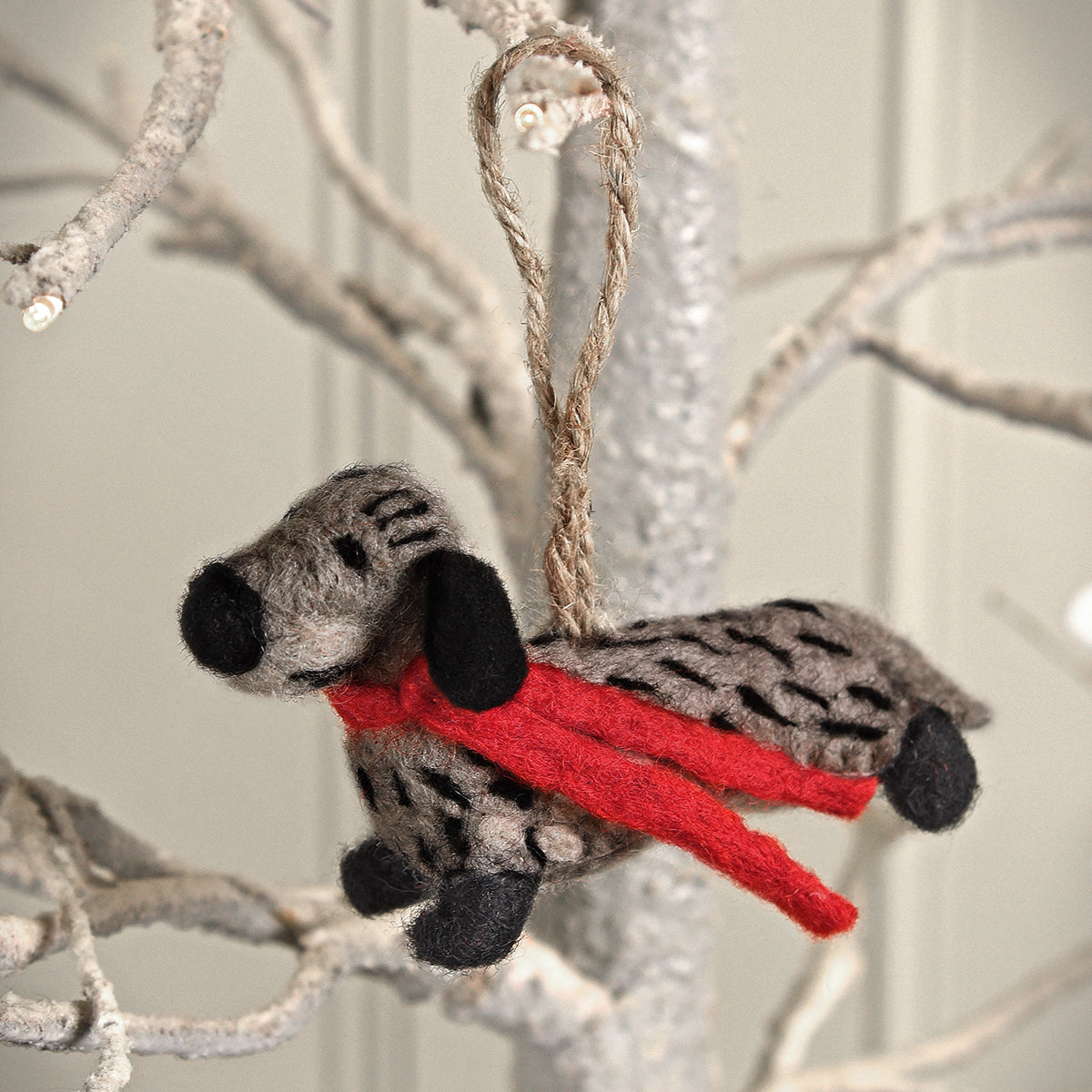 Dachshund Felt Decoration
