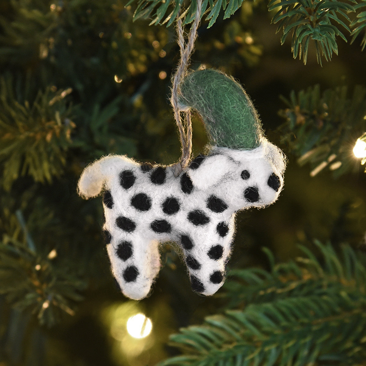 Dalmatian Felt Decoration by Sophie Allport