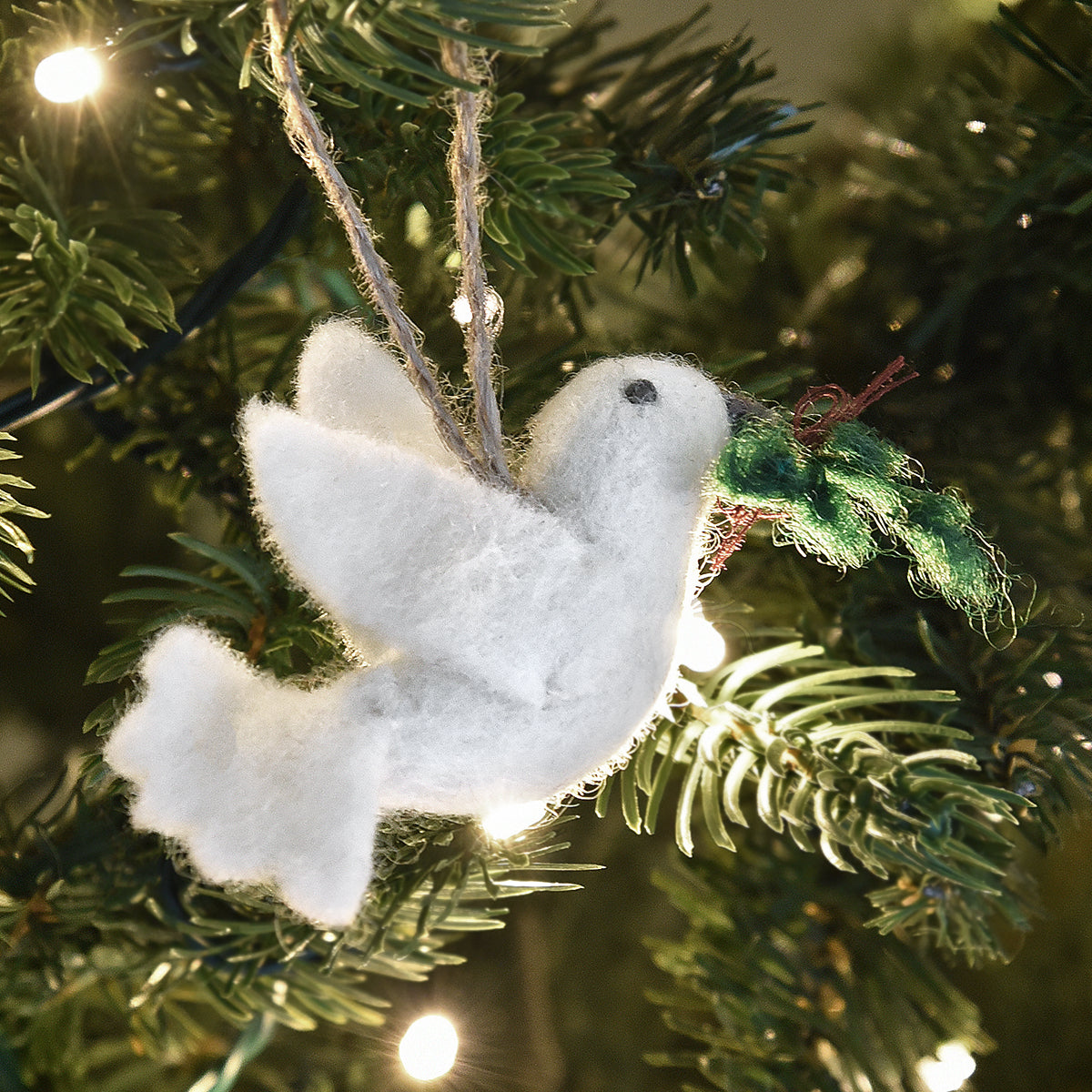 Dove Felt Decoration