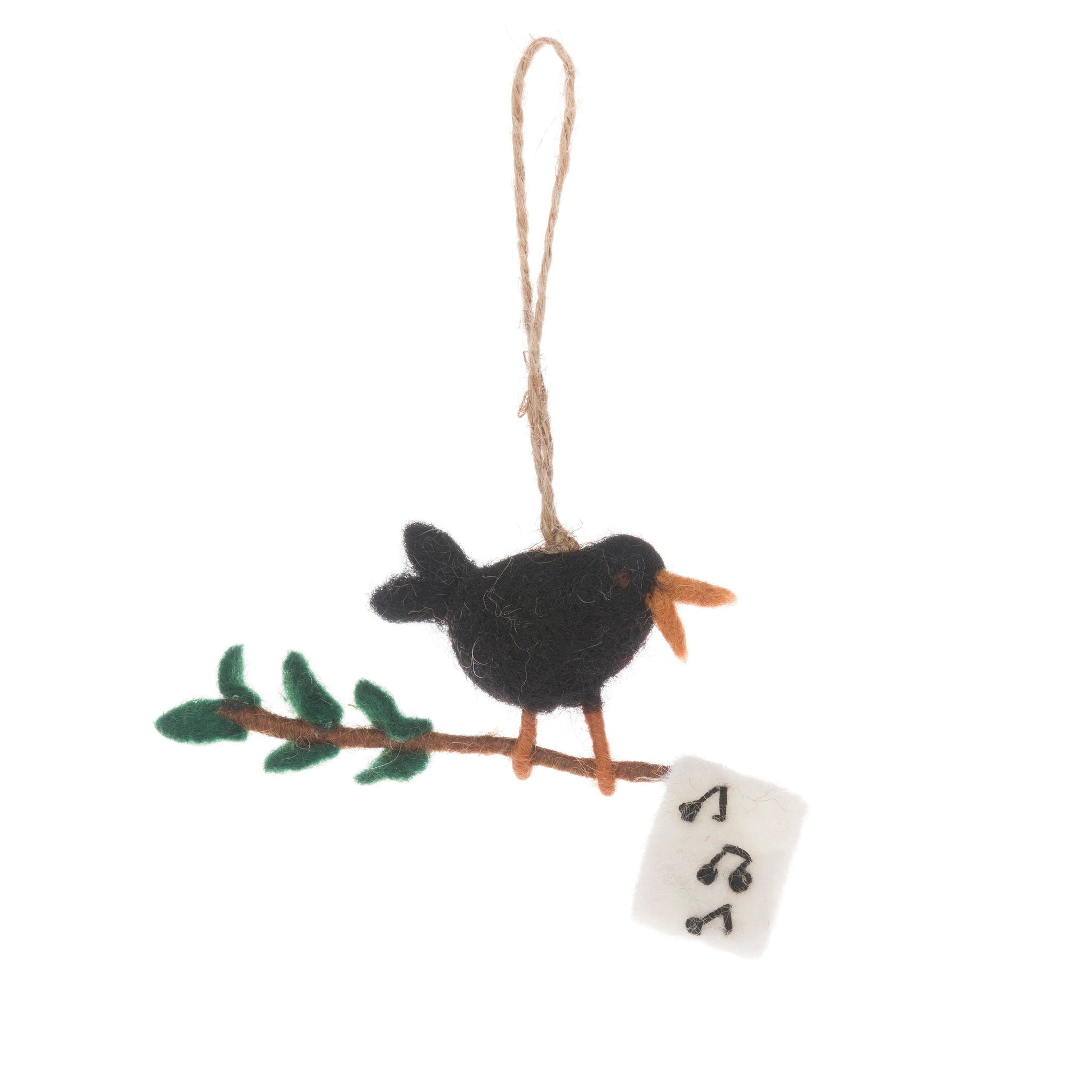 Calling Bird Felt Decoration