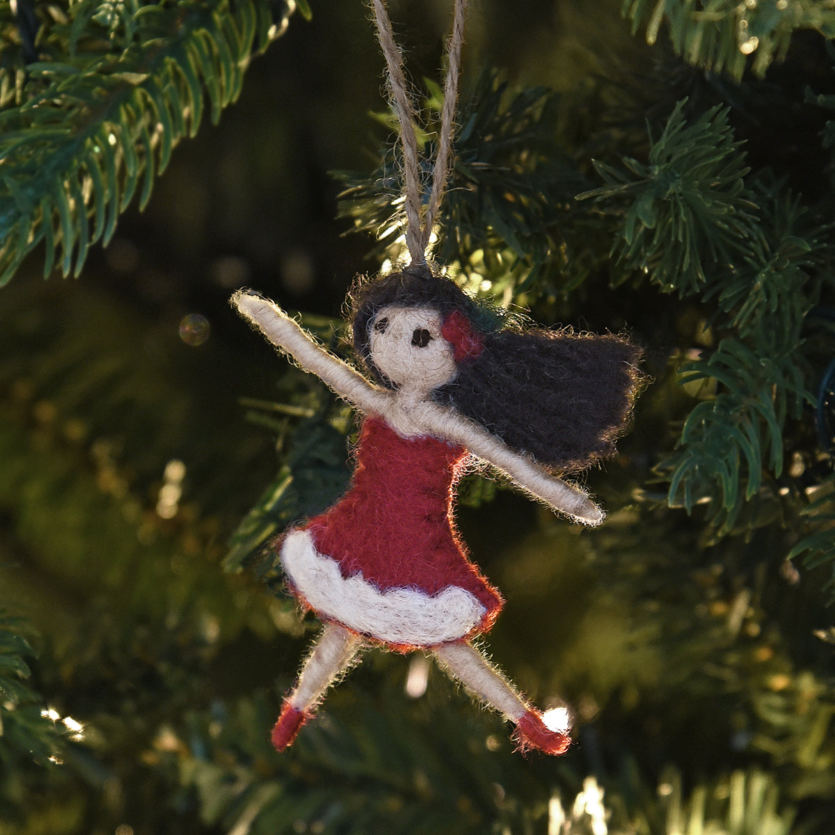 Lady Dancing Felt Decoration