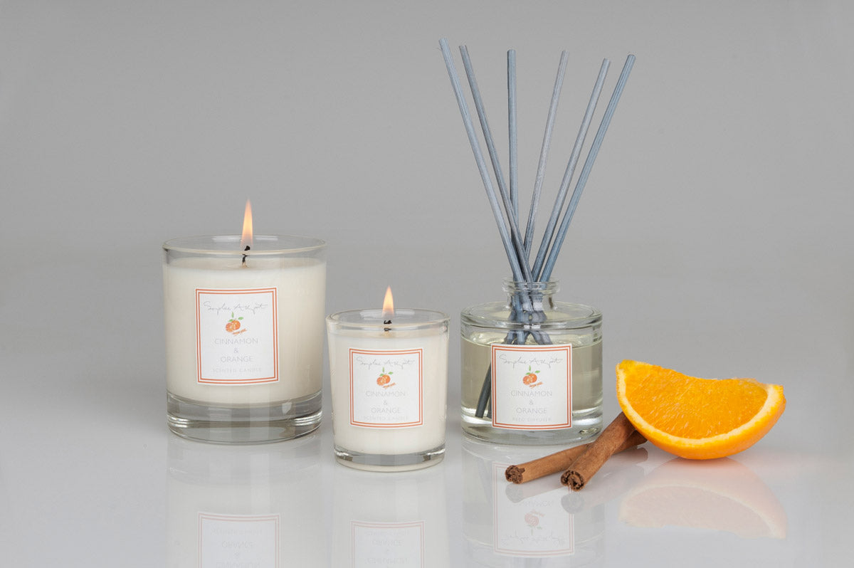 Cinnamon & Orange Scented Candle -75g