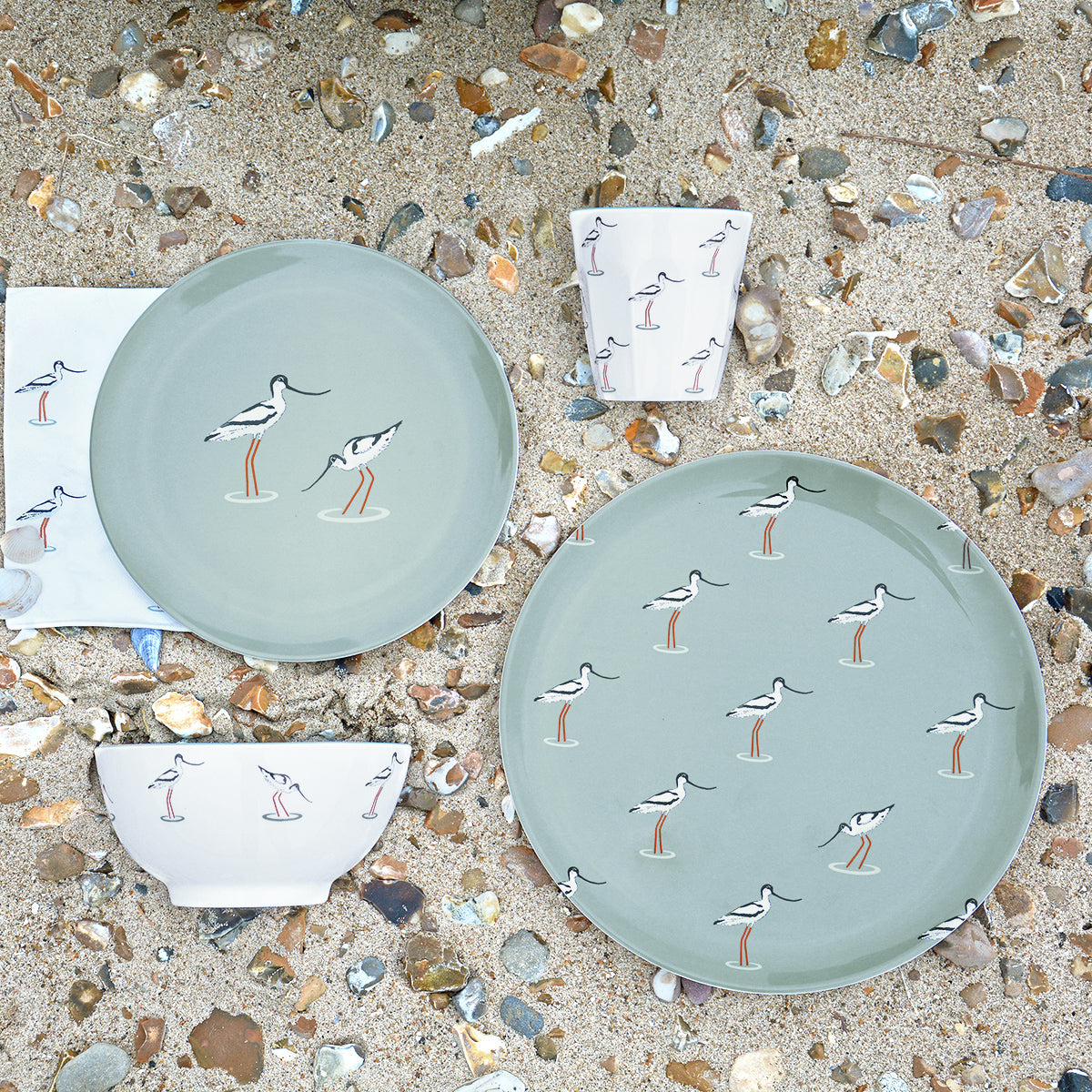 Coastal Birds Melamine Side Plate by Sophie Allport