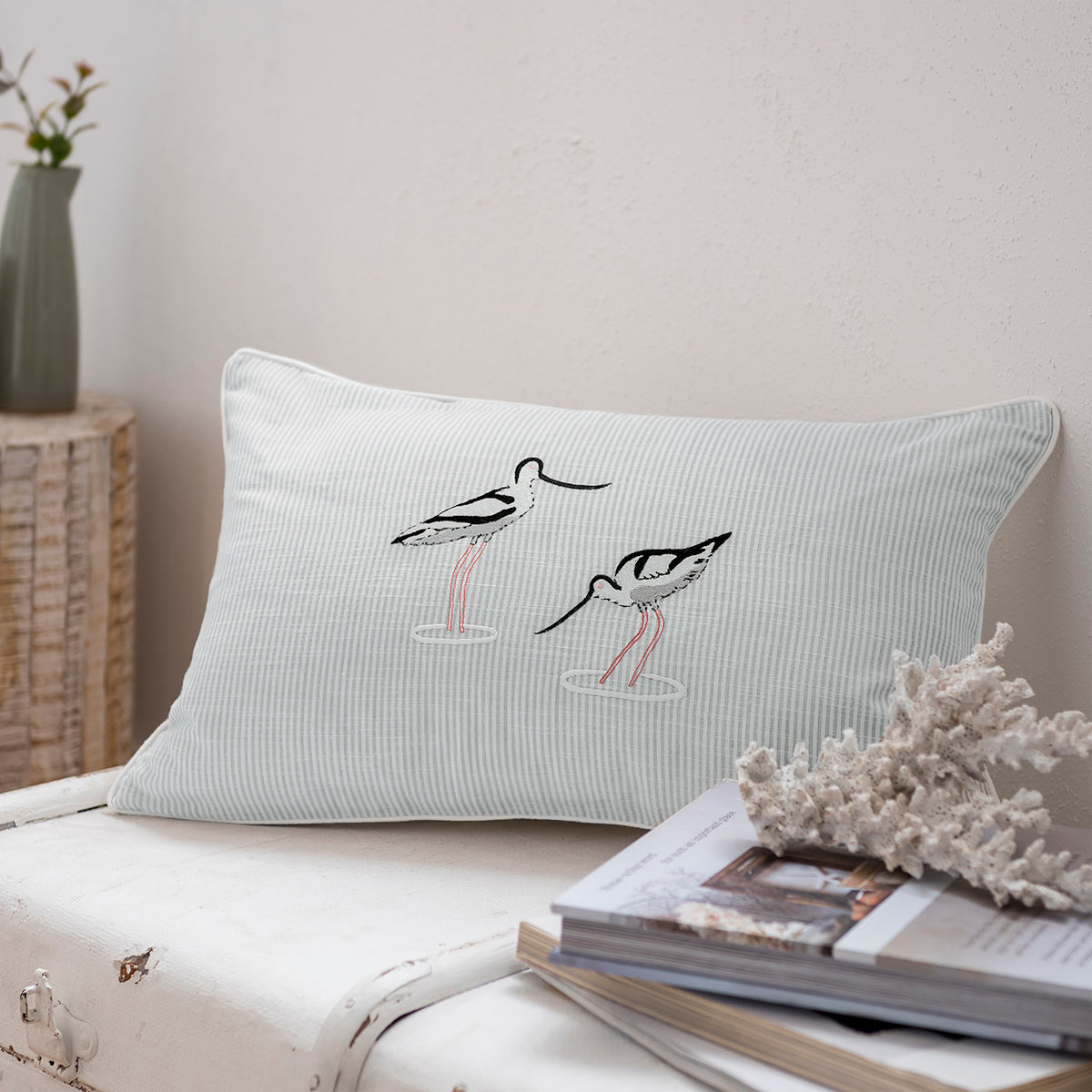 Coastal Birds Decorative Cushion by Sophie Allport