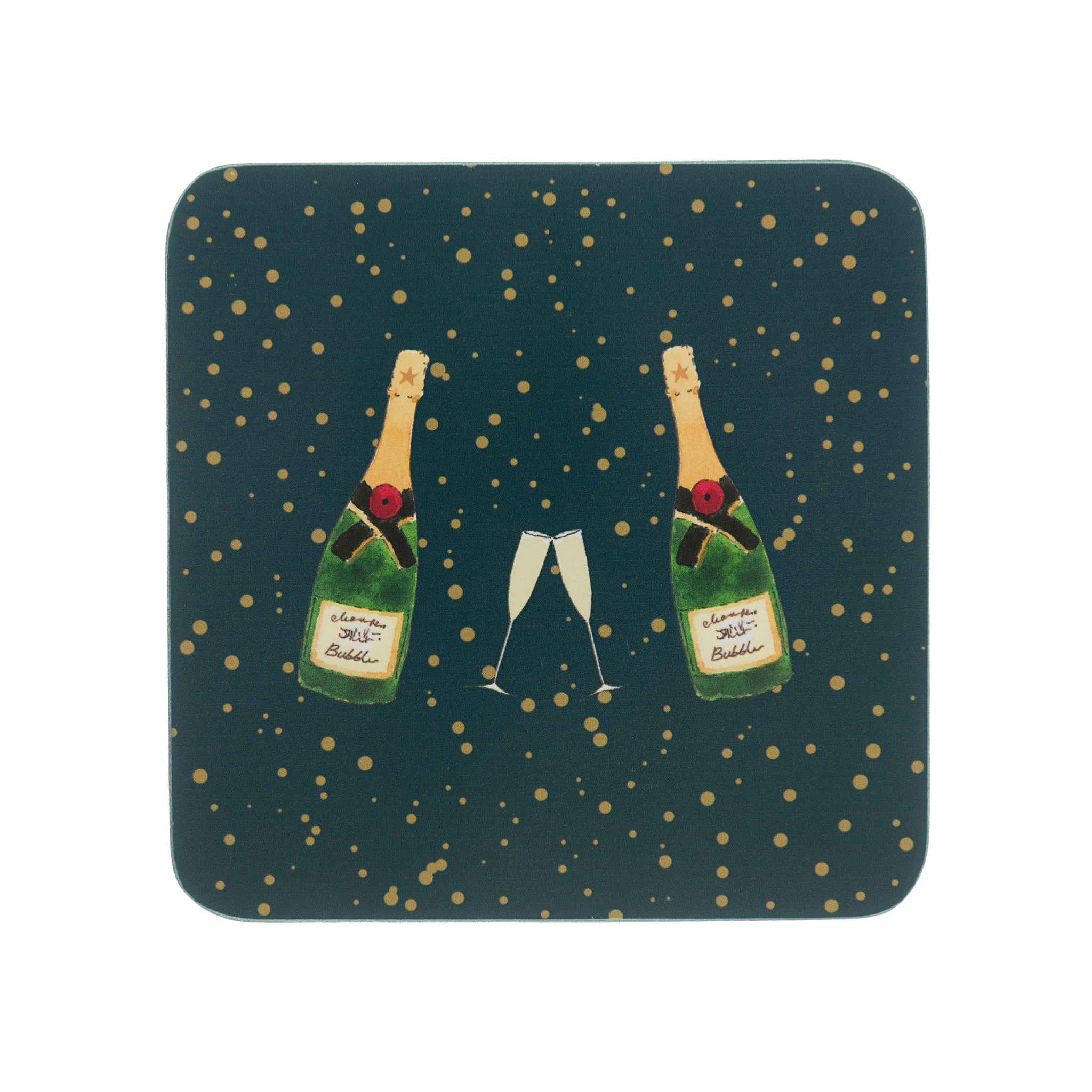 Bubbles & Fizz Coasters (Set of 4)
