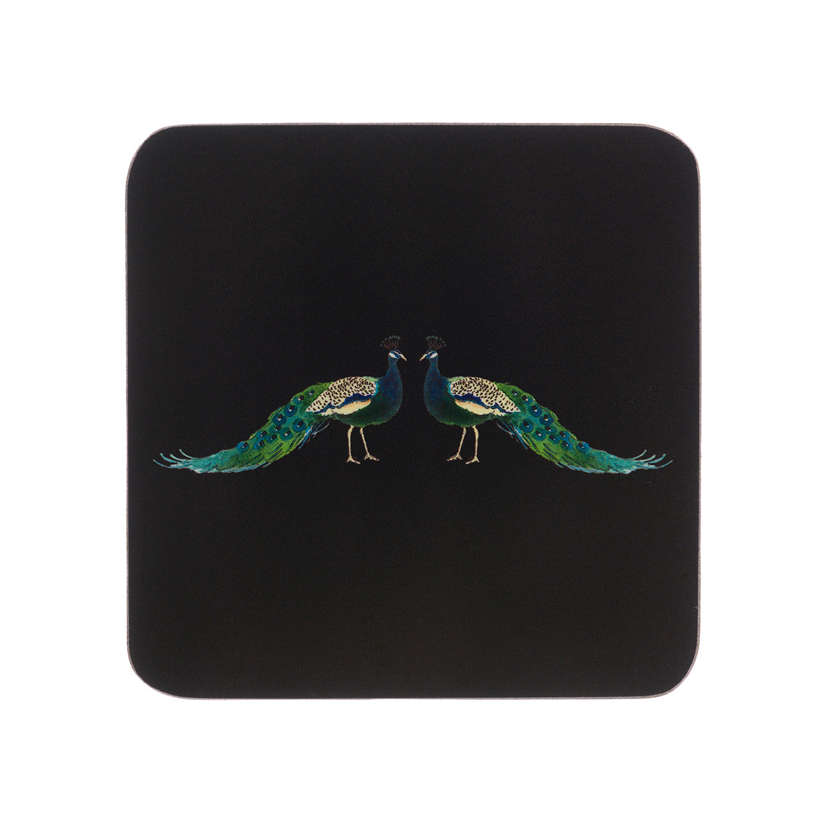 Peacocks Coasters (Set of 4)