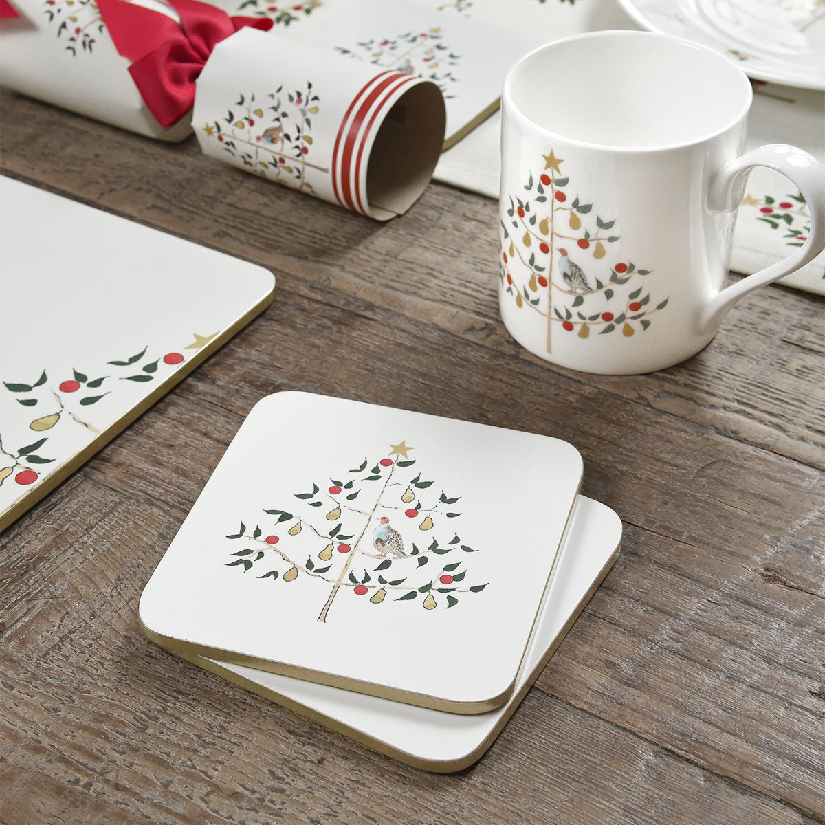 Partridge Coasters (Set of 4)