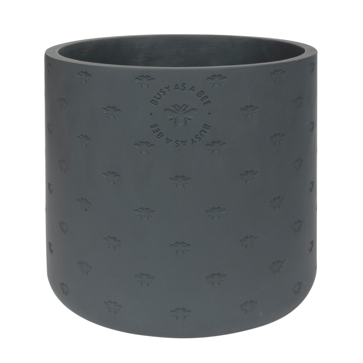 Large grey plant pot made from cement in Sophie Allport's popular bee design