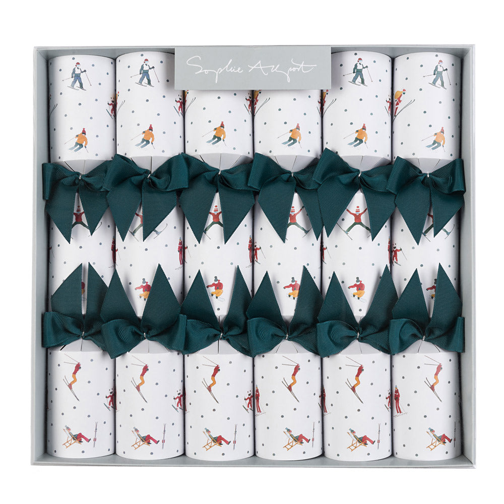 Skiing Christmas Crackers (set Of 6)