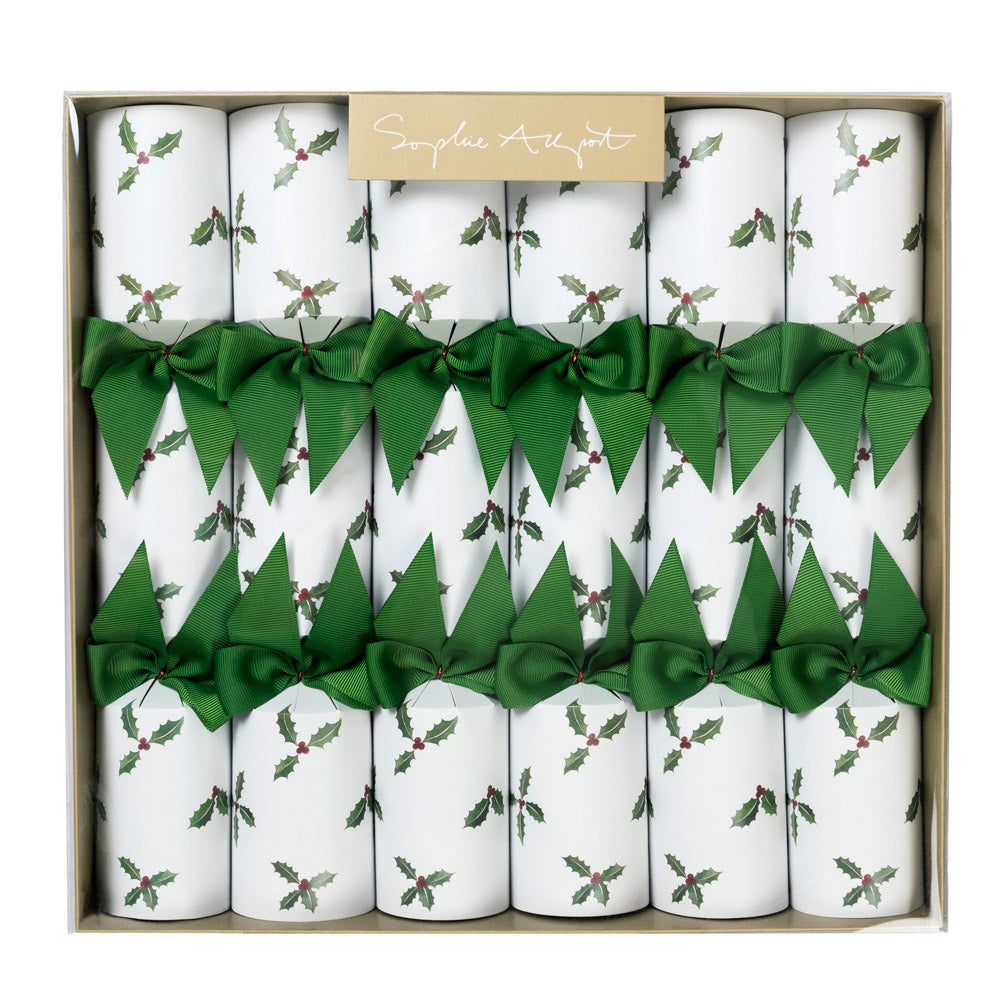 Holly & Berry Christmas Crackers (set Of 6)