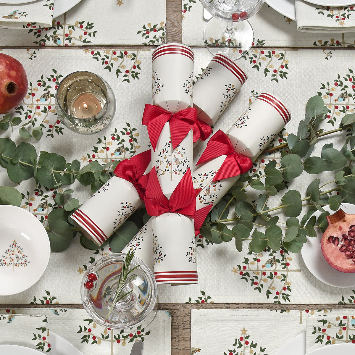 Partridge Christmas Crackers (Set of 6)
