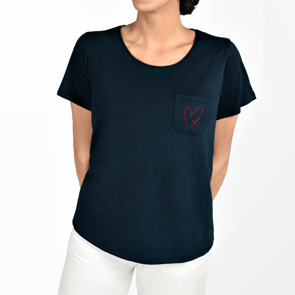 Hearts Ladies T-Shirt by Sophie Allport