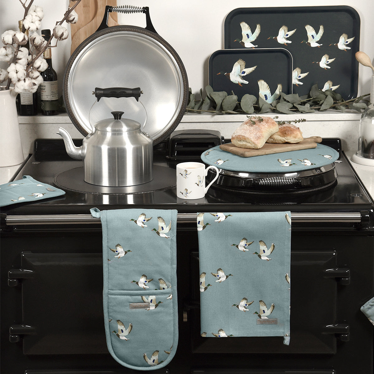Ducks Circular Hob Cover by Sophie Allport