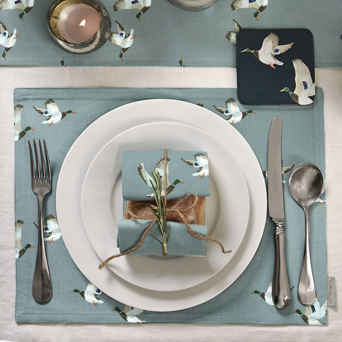 Ducks Fabric Placemat by Sophie Allport